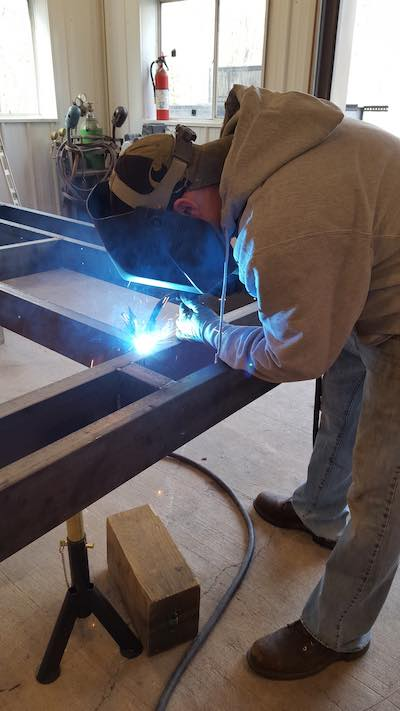 Welding Tiny Home Frame