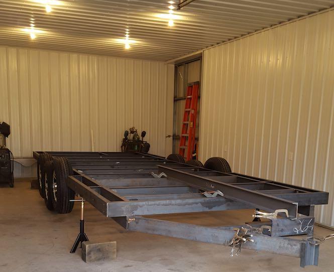 building a tiny home - trailer frame